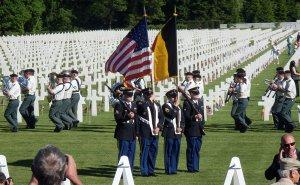 Memorial Day op de Ardennes Amerikaanse begraafplaats